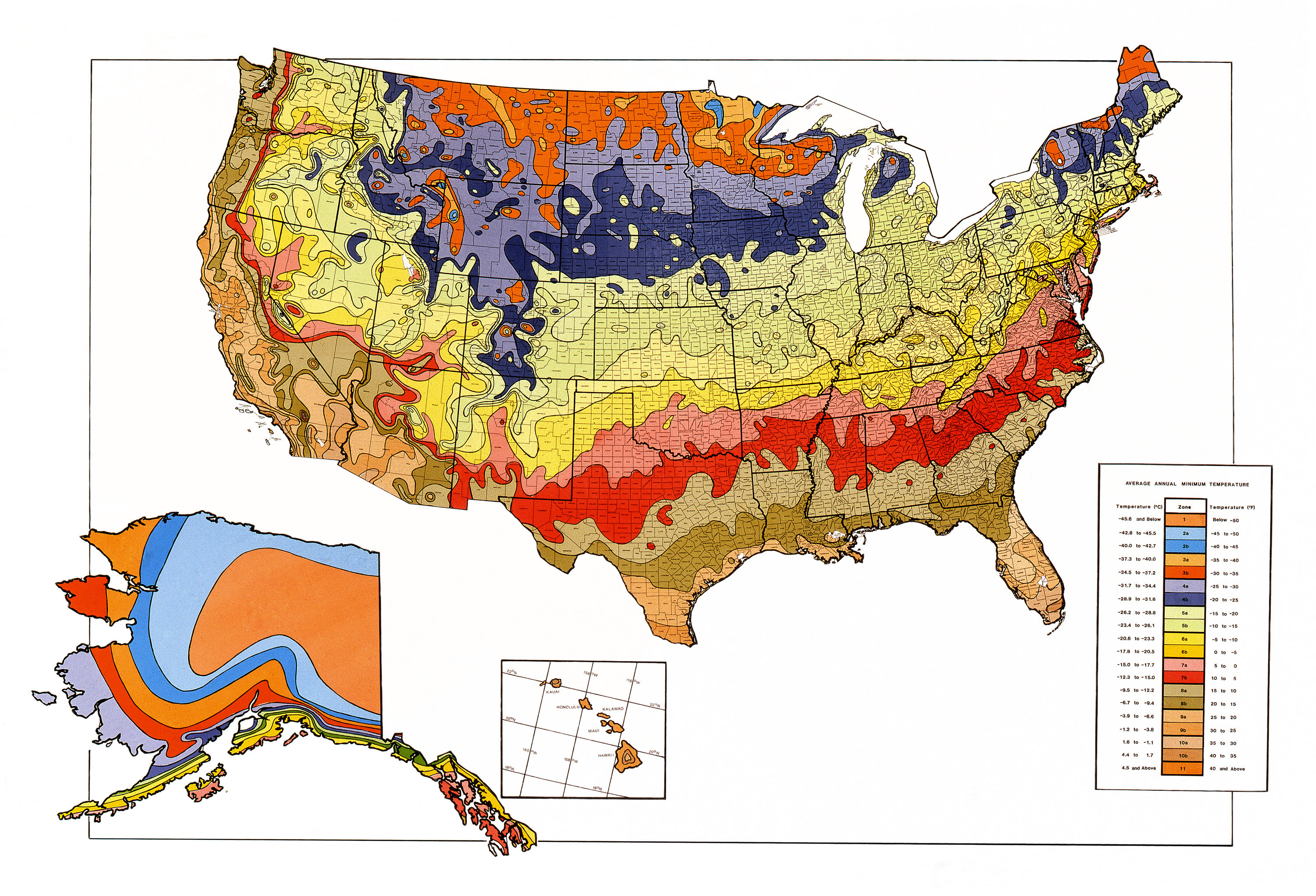 Global Warming And Plant Hardiness Zones - Us climate map zone